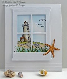 Window by the Sea by redwasher1 - Cards and Paper Crafts at Splitcoaststampers