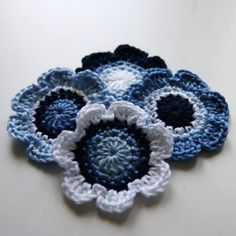 Hannah - I could crochet blue flowers for decorations or wedding favors. Wedding Favors, Wedding Ideas, April 19, Crochet Flowers, Blue Flowers, Crocheting, Knit Crochet, Diy And Crafts, Diy Ideas