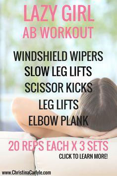 Lazy girl ab workout