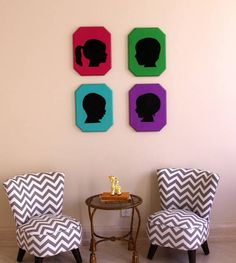 DIY family silhouettes