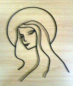 #Retrato #VirgenMaria en #Hierro Forjado. Hecho a mano.