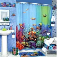 The Appropriate #Decoration for Children Use: colorfull-aquatic kid #bathroomdecor colorfull-rug-under-water-living-decor-download-photo-kid-bathroom-decor 鈥?xtrainradio