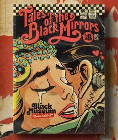Эпизоды 4 сезона превратились в винтажные комиксы - Бразильский иллюстратор Butcher Billy вернулся к завершению этой удивительной серии, иллюстрируя эпизоды 4 сезона Black Mirror. Он завершил проект под названием «Сказки о неожиданных черных зеркалах», который ретранслирует вселенную в серии с ретро-эстетикой старых американских комиксов.