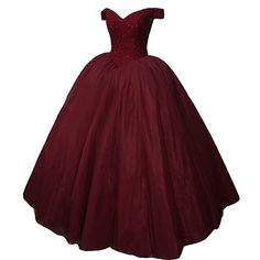 Kivary Heavy Beaded Off Shoulder Long Prom Dresses Formal Quinceanera Evening Ball Gown Burgundy US 16