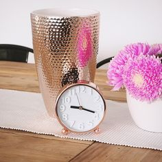 Sunday rose gold love! Head in store to grab this desk clock & vase before they're all gone!  @soniastyling #LisaTforTarget