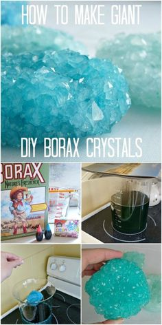 How to grow crystals. Giant Crystals Recipe and Borax Uses for Kids | 15 Easy Borax Recipes on Frugal Coupon Living. Science experiments kids.