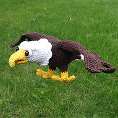 Sam the eagle amigurumi crochet pattern by IlDikko
