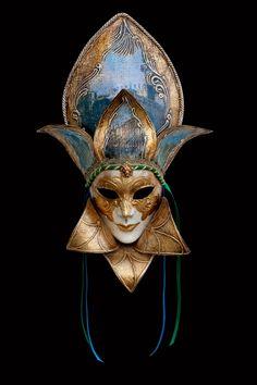Belvedere: maschera artigianale veneziana prodotta a mano a venezia dai maestri dell'isola secondo il carnevale veneziano