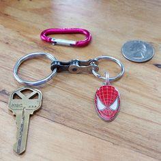 Recycled Bike Chain Spiderman Keychain by KeychainsforChange, $10.00
