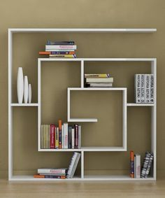White maze shelf