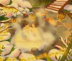 We came to the hotspring by Puuung