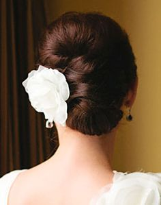 wedding hair i want this with a blue flower for the wedding i'm going to be in