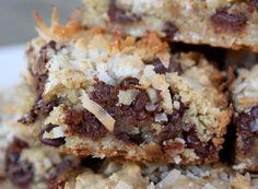 Barefeet In The Kitchen: Dark Chocolate Coconut Blondies - Gluten Free or Not