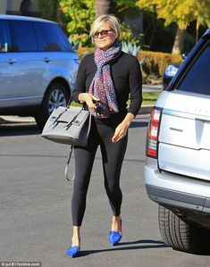Chic after the storm: Yolanda Foster stepped out to run errands on Wednesday in style afte...