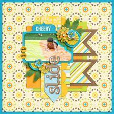 Digital Scrapbook Layout by Kirstie | Create Your Own Sunshine Kit | Bella Gypsy Designs.