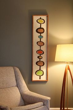 Image result for mid century modern accent colors with greige walls