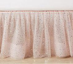 The Emily & Meritt Sparkle Tulle Bed Skirt pottery barn kids Crib Bedding, Bedding Sets, Dark Bedding, Crib Bed Skirt, Queen Bedding, Boho Bedding, Tulle Bedskirt, Curtains, Girls Bedroom