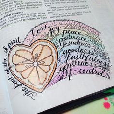 "LOVE this! Best idea ever, to symbolize the ""fruit"" of the spirit!"