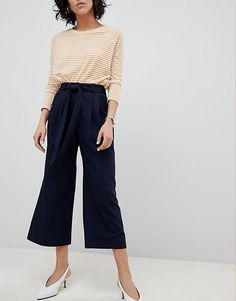 ASOS DESIGN mix & match culotte with tie waist