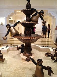 Mary Poppins fountain at the Villas at The Grand Floridian