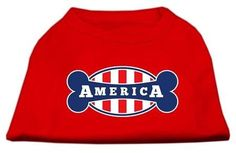 Bonely in America Screen Print Shirt Red Med (12)
