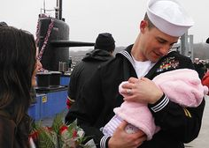 Sailors assigned to the Los Angeles-class attack submarine USS Providence (SSN 719) are welcomed home by their families and loved ones after a scheduled seven-month deployment.
