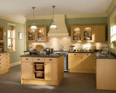Colours Beech Kitchen Cabinets, Grey Cabinets, New Kitchen, Kitchen Decor, Kitchen Design, Kitchen Ideas, Kitchen Colour Schemes, Kitchen Paint Colors, Dream Home Design