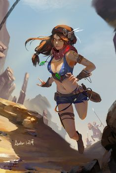 Runze Z Desert female thief
