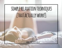 Simple Relaxation Techniques That Really Work Simple Living Blog, Relaxation Techniques, Ballet Dance, Dance Ballet, Ballet