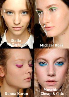 eye shadow above eyelid & pink eyelashes Green Eyeliner, Eye Make Up, Beauty Trends, Moschino, Hair Inspiration, Septum Ring, Eyelashes, Eyeshadow, Michael Kors