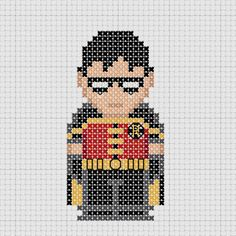 Cross stitch DC Comics Young Justice Robin.