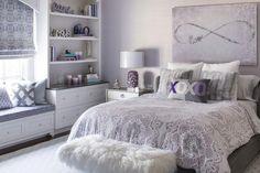 Sophisticated Lavender and Gray Teen Bedroom #HabitacionesMatrimonialesOriginales
