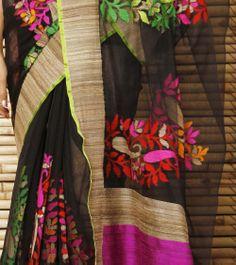 Black Sheer Banarasi Net Saree