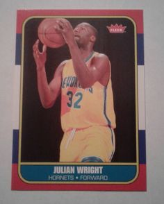 2007-08 FLEER 86 RETRO JULIAN WRIGHT ROOKIE CARD # 86R-159  #NewOrleansHornets