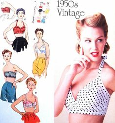 Bustier Top Pattern - Bing Images Bra Tops, Swimsuit Tops, Bikini Tops, Bustier Bikini Top, Vintage Bathing Suits, Strapless Tops, Simplicity Sewing Patterns, Top Pattern, Outfits