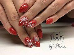 Classy Nail Designs, Winter Nail Designs, Red Nails, Hair And Nails, Eclairs, Winter Nails, Christmas Nails, Nail Colors, Christmas Decorations