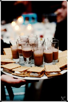 S'mores and milkshake shooters.