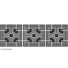 Design for Textile blocks for Storer House. Frank Lloyd Wright. Designed in 1922. Built in 1923. West Hollywood, California