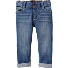 Old Navy Cuffed Straight Jeans For Baby Size 2T - Medium wash ($14) ❤ liked on Polyvore featuring baby clothes and kids