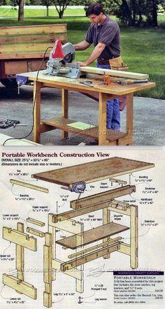 Portable Workbench Plans - Workshop Solutions Plans, Tips and Tricks | WoodArchivist.com