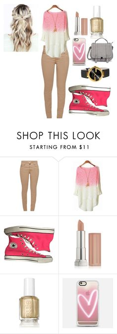 """casual"" by arisofia on Polyvore featuring moda, Barbour, Converse, Maybelline, Essie, Casetify, Gucci y Pink"