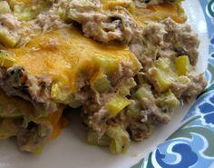 "Tuna ""Noodle"" Casserole (yellow squash)"