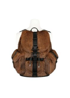 Givenchy OBSEDIA BACKPACK IN FUR REF BJ05661203200 from FW16 collection lookbook.