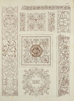 Patterns for embroidery by Christiaan Lindsen in Het Gildeboek (1873).