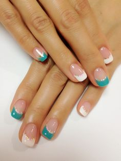 Adorable Spring & Easter Nail Art Ideas bring an array of fabulous, inspirational nail art designs. Easter Nail art has never been hotter that can turn you into a nail art queen. Fancy Nails, Love Nails, Pretty Nails, My Nails, Teal Nails, Pink Nail, Classy Nails, Glitter Nails, French Tip Nail Art