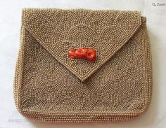 1930 Yamanaka Beaded Art Deco evening bag with carved red coral clasp Vintage Purses, Vintage Bags, Handmade Wallpaper, Beaded Clutch, Antique Stores, Art Deco Design, Of Wallpaper, Red Coral, Bead Art