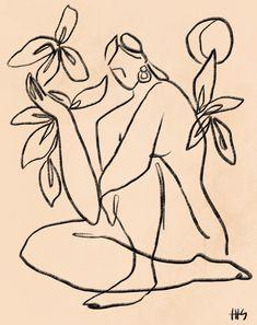 Art Sketches, Art Drawings, Art Inspo, Painting & Drawing, Line Art, Illustration Art, Line Illustrations, Abstract Art, Artsy
