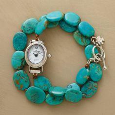 turquoise wrap watch. $138.00 by SundanceCatalog