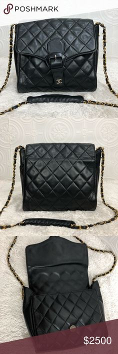 01e4b92d9ad7 🌸💯%Authentic Chanel🌸 Chanel purse with chain and leather strap CHANEL  Bags