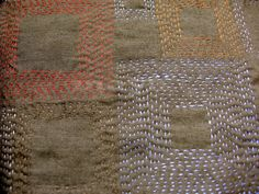 Kantha Stitch Tutorial | ... whole cloth patterned with kantha stitch squares of different sizes